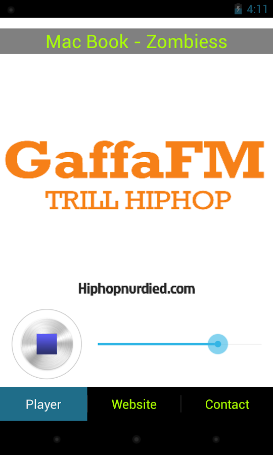 GaffaFM - screenshot