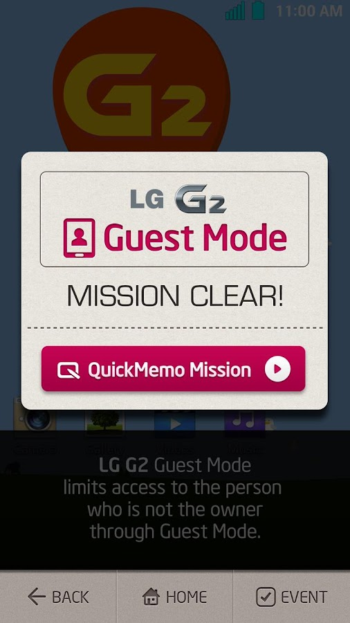 LG G2 Emulator - screenshot