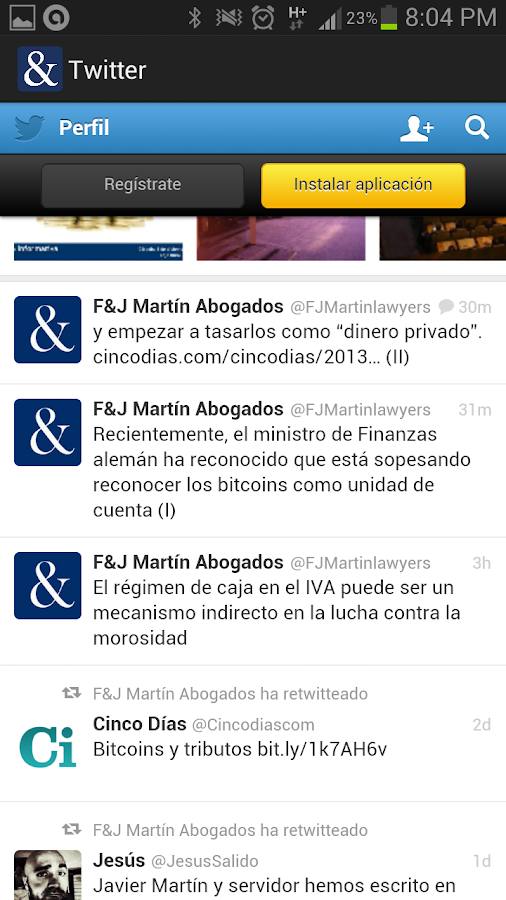 F&J Martín Abogados- screenshot