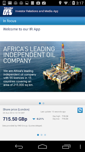 Tullow Oil IR and Media