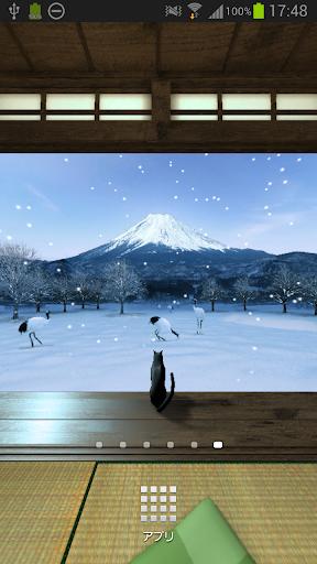 和の風景~冬~☆パノラマライブ壁紙Trial