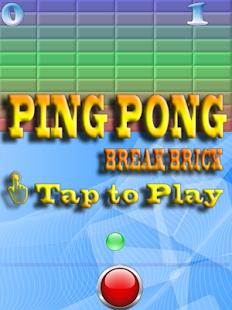 Ping Pong - Break Brick