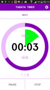 Tabata timer with music screenshot