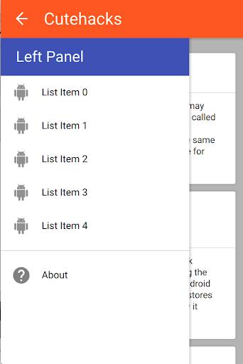 Qt Navigation Drawer Example