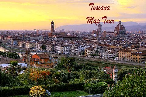 Toscana Map Tour