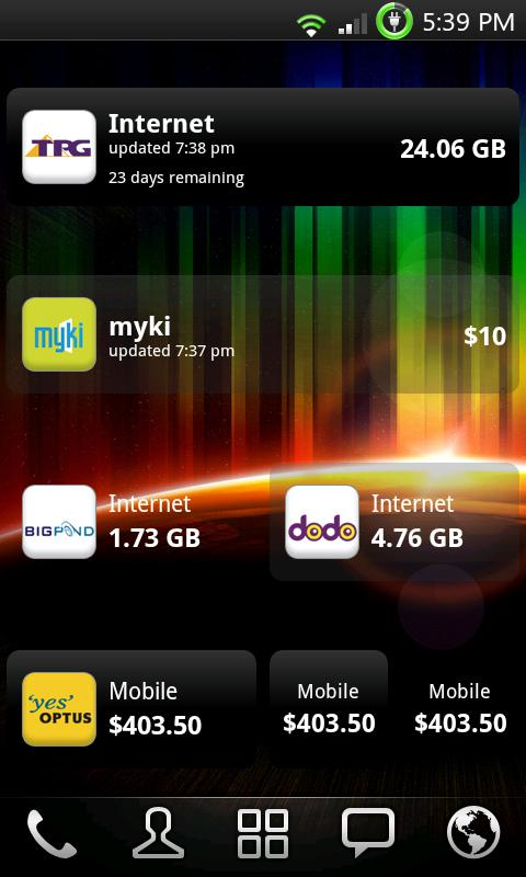 myUsage - screenshot