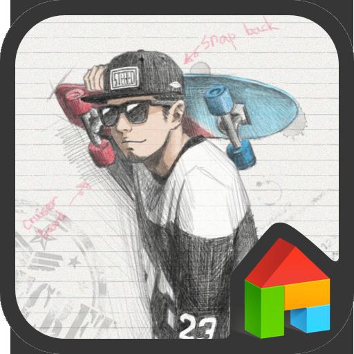 피피노트(black n white) 도돌런처 테마 個人化 App LOGO-APP試玩