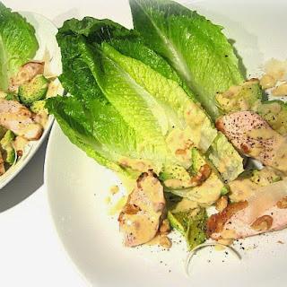 Caesar Salad w/ Chicken, Avocado & Walnuts