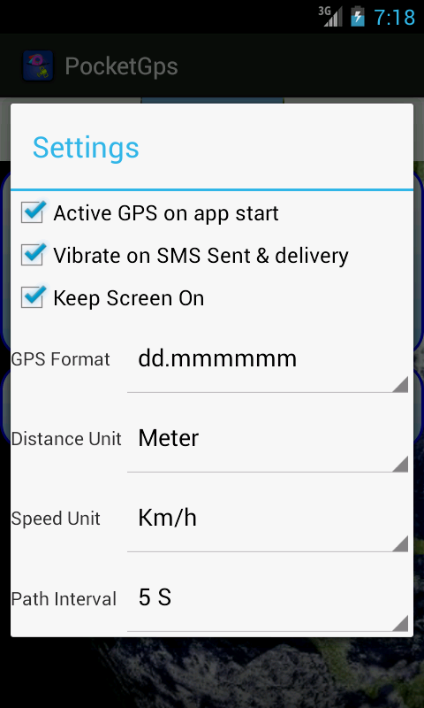 Pocket Gps ( GPS Tool ) - screenshot