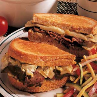 Grilled Roast Beef Sandwiches.