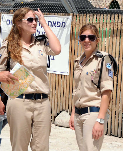 "Israeli-Air-Force-soldiers - JD Lasica: ""I took this candid of two women soldiers in the Israeli Air Force near the Western Wall and it's received more than 100,000 views in the past five years. Don't ask me why."""
