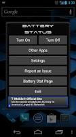 Screenshot of Battery Status Bar