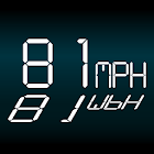 Simple Speedometer White HUD icon