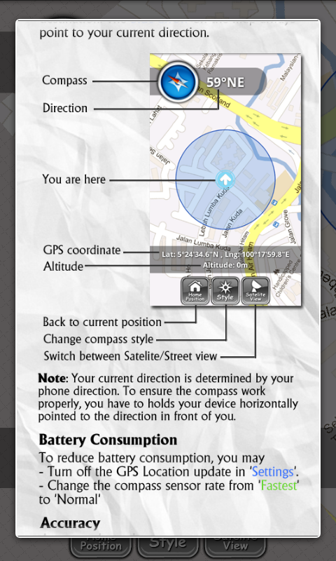 Map Compass - screenshot