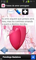 Screenshot of Frases de amor - português