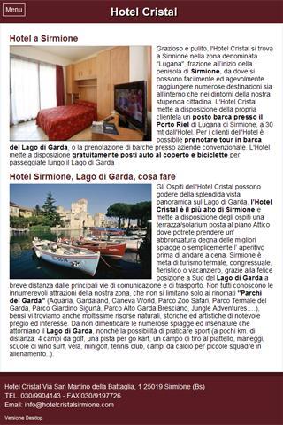 Hotel Cristal - Sirmione- screenshot