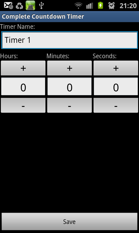 Complete Countdown Timer - screenshot