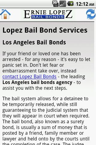 Ernie Lopez Bail Bonds - screenshot