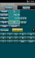 Screenshot of Tip Calc Supreme