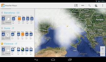 Screenshot of Weather Maps Beta