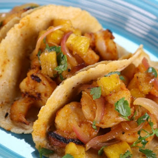 Shrimp Tacos with Pineapple Salsa