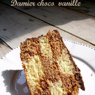Chocolate Checkerboard Cake.