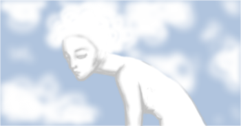 Blurry cloud lady