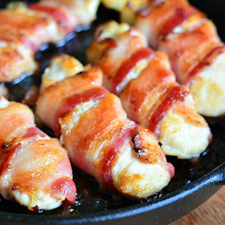 Bacon Wrapped Chicken Strips.