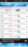 Screenshot of ForecaWeather