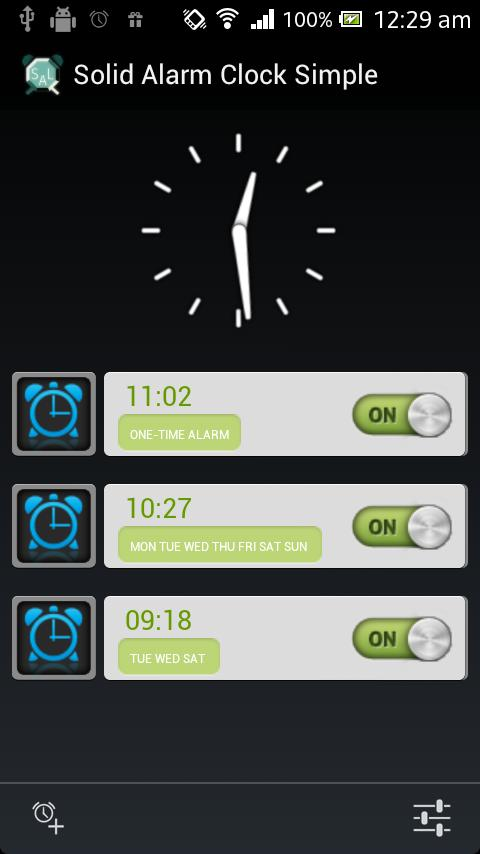 Solid Alarm Clock Simple - screenshot