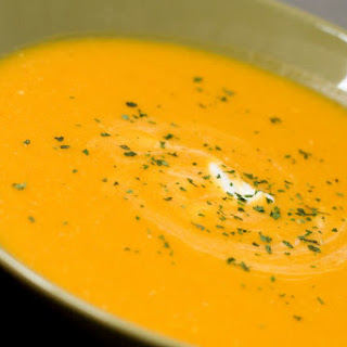 Carrot Ginger Soup with Star Anise.