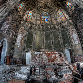 Abandoned Church-The Altar by Dawn Robinson - Buildings & Architecture Decaying & Abandoned ( urban exploration, urbex, beauty in decay, urban decay, abandoned church, abandoned,  )