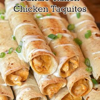 Buffalo-Ranch Chicken Taquitos