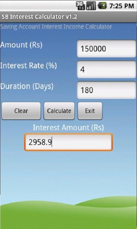 SB Interest Calculator- screenshot