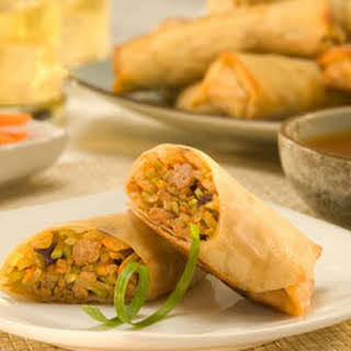 Turkey Egg Rolls With Sweet Lime Dip.