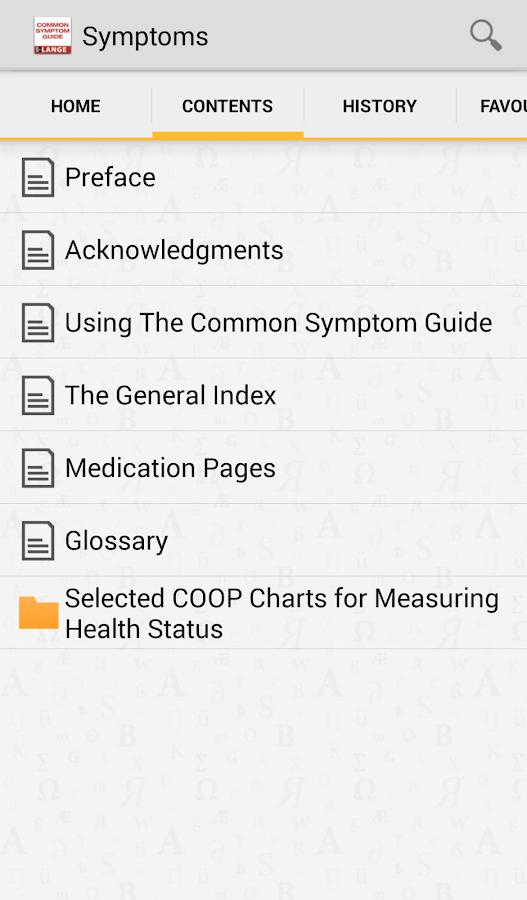 Common Symptom Guide TR - screenshot