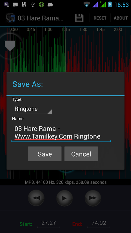 Ringtone Cutter & Maker - screenshot