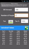 Screenshot of Tip Calculator Classic