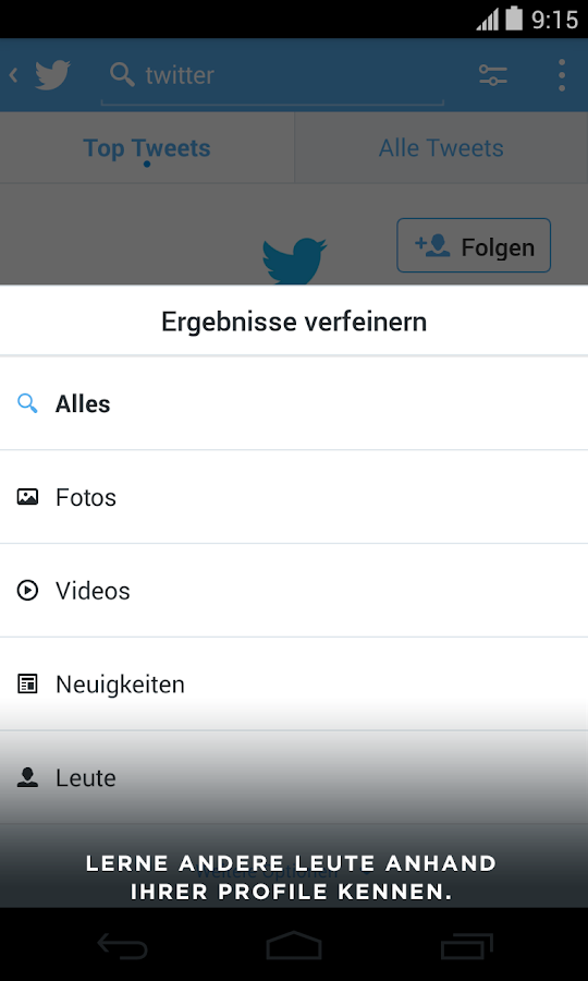 Twitter - screenshot