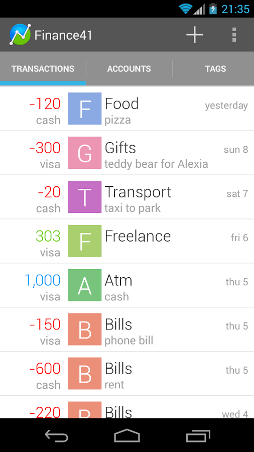 Finance41 - Expense Manager - screenshot