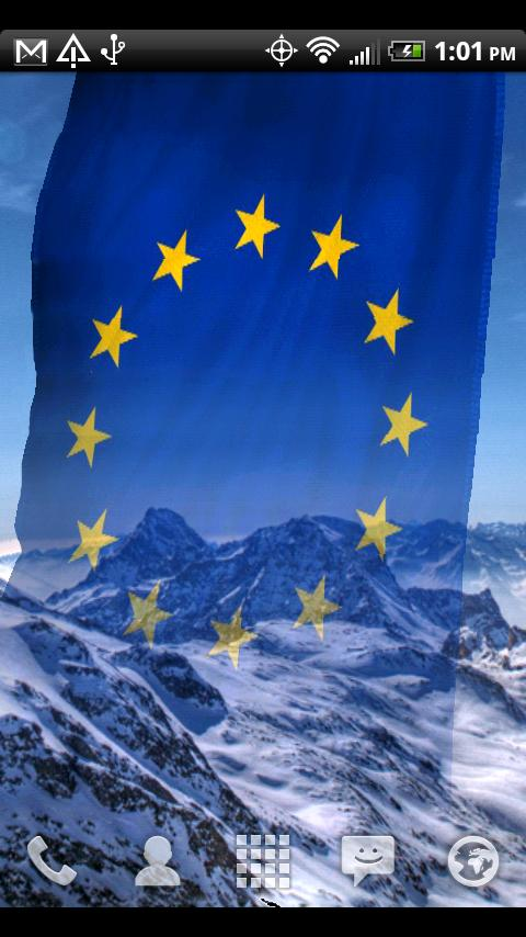 EU Flags Live Wallpaper - screenshot