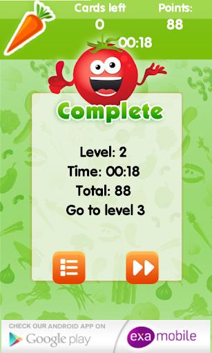 玩免費健康APP|下載Best Memory Games - Vege app不用錢|硬是要APP