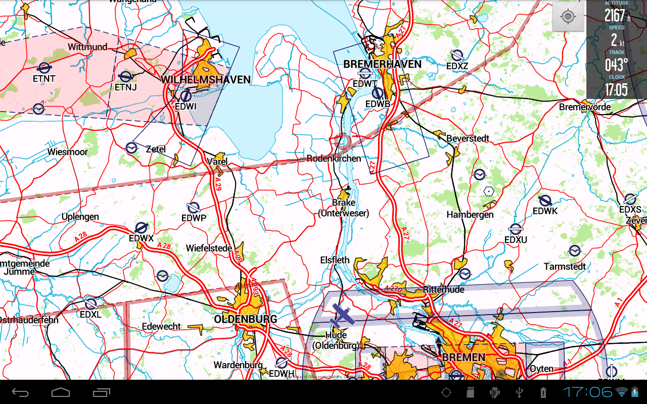 VFRnav Flugnavigation - screenshot