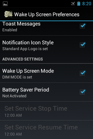 Wake Up Screen - screenshot