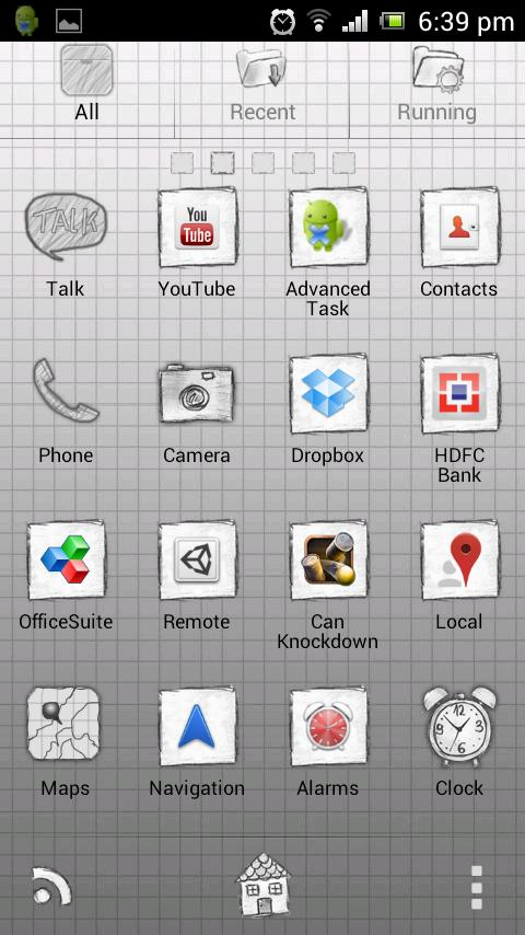 Paper GO Launcher Theme - screenshot