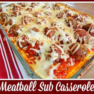 Meatball Sub Casserole.