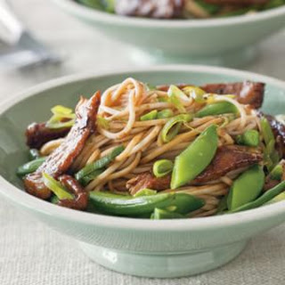 Stir-Fried Pork and Sugar Snaps with Soba Noodles