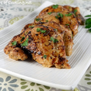 Baked Ranch Chicken Thighs.