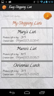 Easy Shopping List - screenshot thumbnail