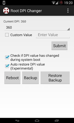 Root DPI Changer